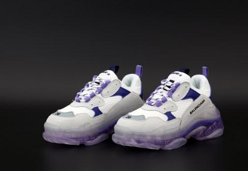 Женские кроссовки Balenciaga Triple S Clear Sole Violet White • Space Shop UA