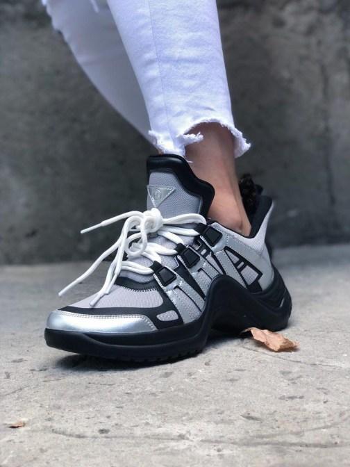 Женские кроссовки Louis Vuitton Arclight Silver Black • Space Shop UA