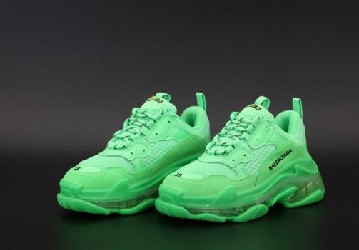 Кроссовки женские Balenciaga Triple S Neon Green • Space Shop UA