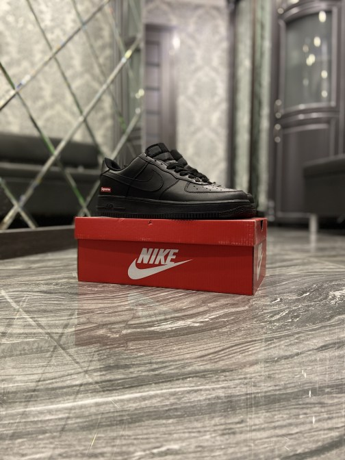Nike Air Force 1 Low Supreme Black (Чёрный) • Space Shop UA