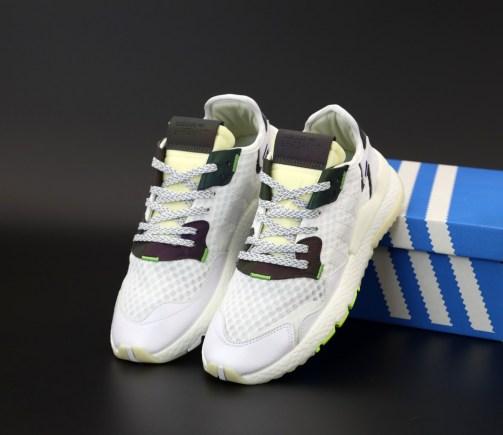 Кроссовки мужские Adidas Nite Jogger White Neon