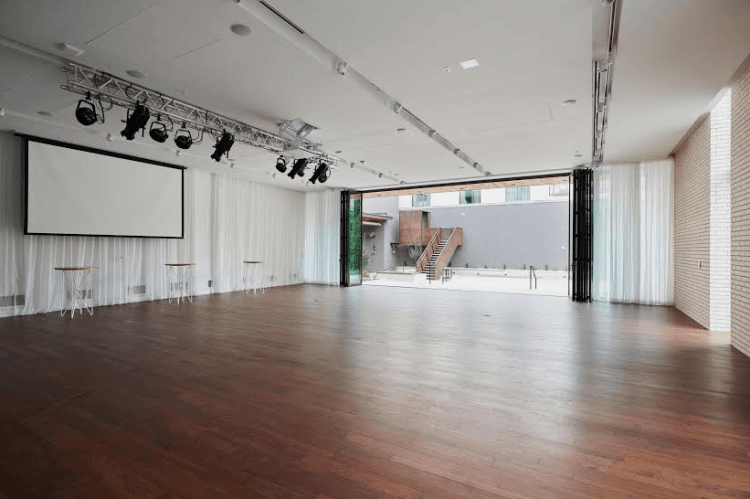 Interior and Exterior Event Space at South Congress Hotel in Austin Texas