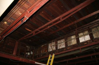 Pre-renovation shot of the clerestory windows in what is now the Collaboration Area.