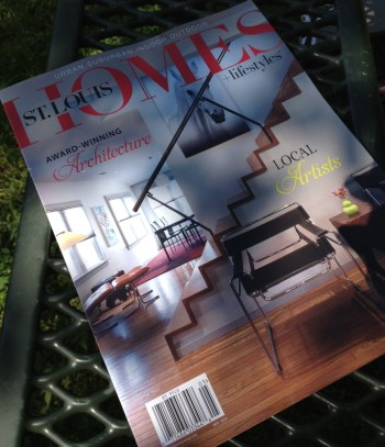 The May 2013 edition of St. Louis Homes & Lifestyles Magazine featuring one of our residential projects on the cover.