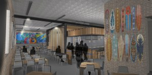 Rendering of the Mission Taco interior.
