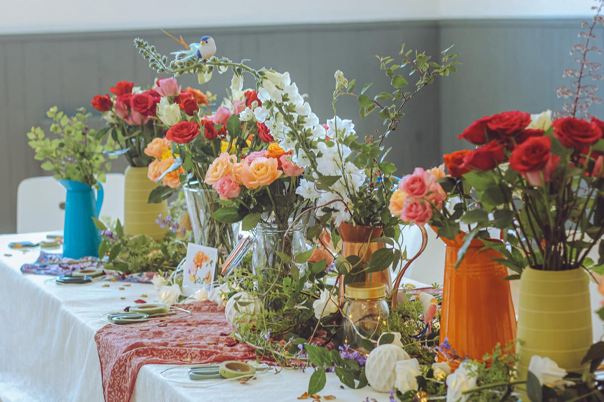Flower Crown Workshop with sustainable & organically grown local flowers