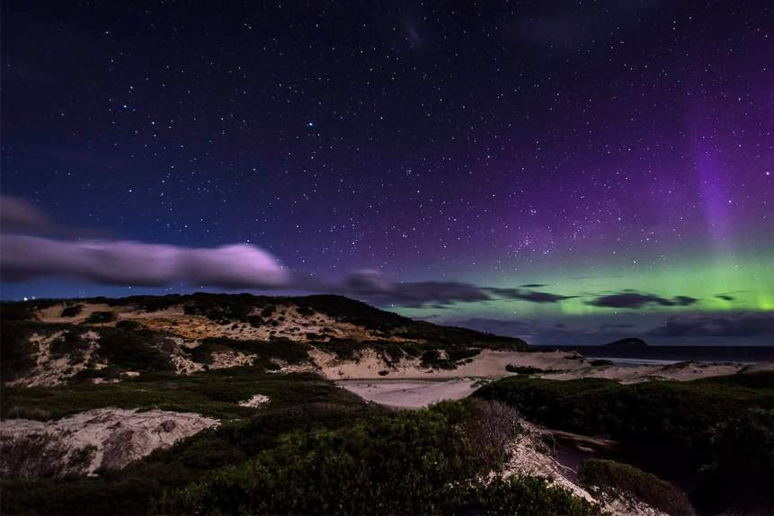 Southern Lights in Tasmania Featured