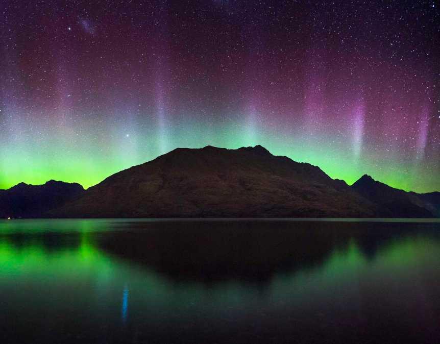 Aurora over Cecil Peak, New Zealand - Ben Rominson via Flickr