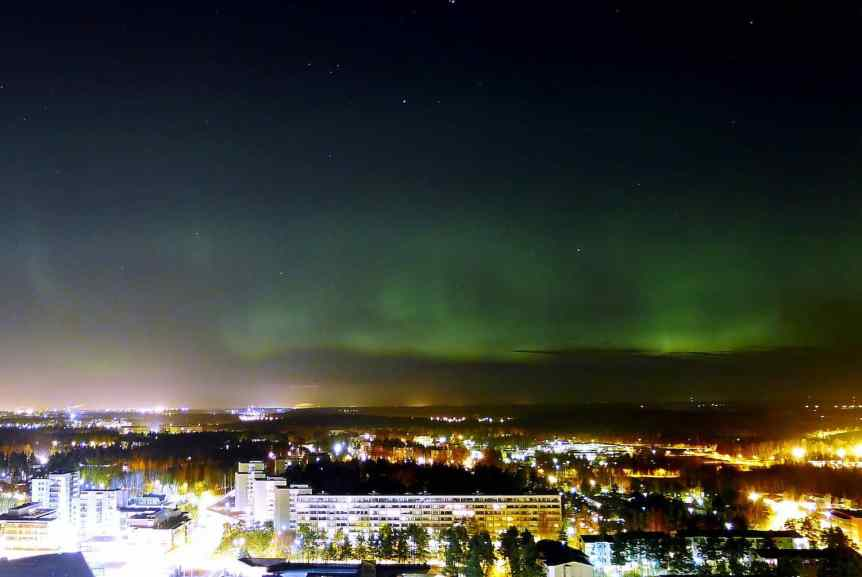 Northern Lights in Finland - Helsinki - Timo Newton-Syms via Flickr