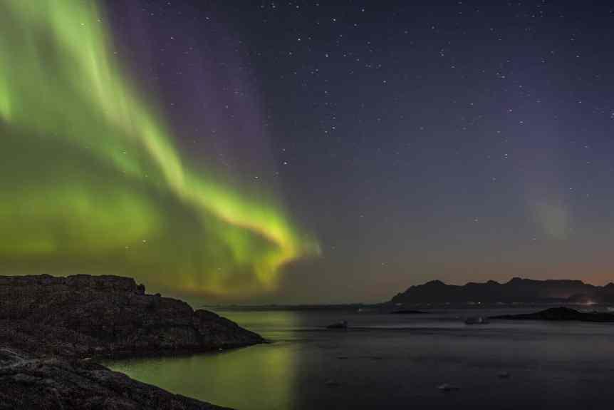 Northern Lights in Greenland - Kulusuk - Nick Russill via Flickr