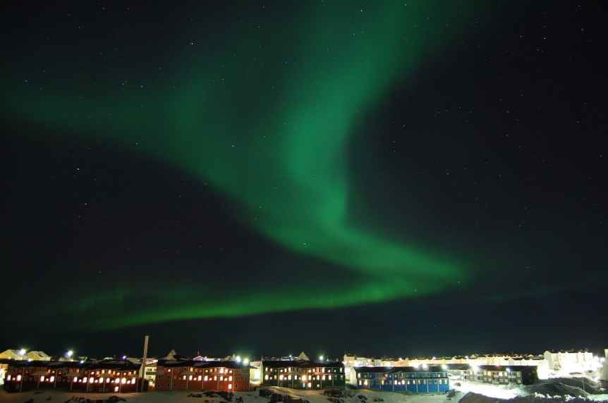 Northern Lights in Greenland - Nuuk