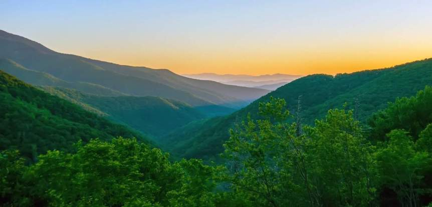 Sunrise at Virginia's Blue Ridge