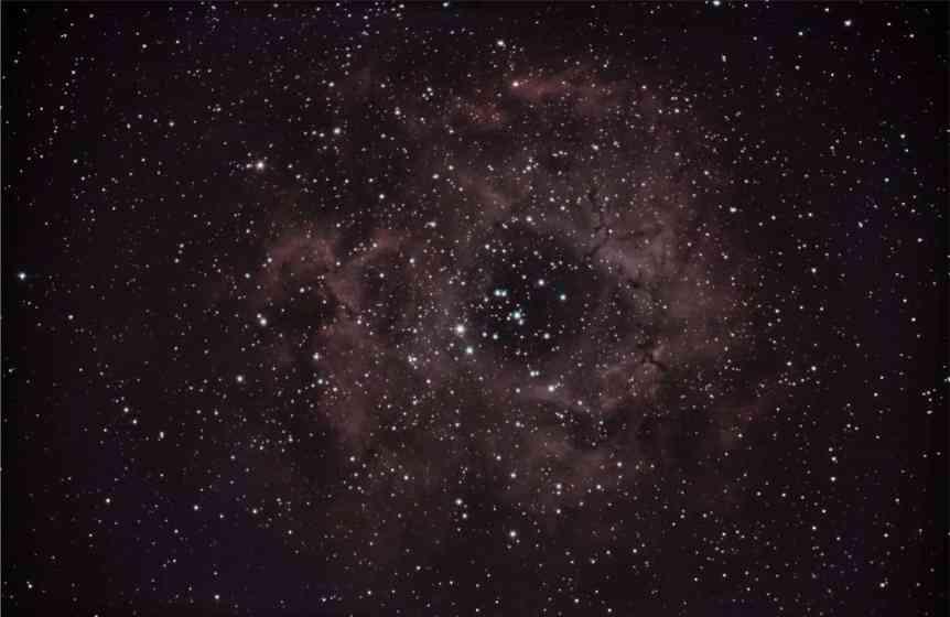 December Night Sky - NGC 2244 - K Bahr via Flickr