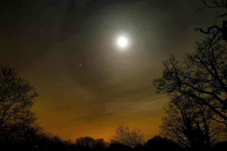 Night Sky in February - Moon & Jupiter - Timo Newton-Syms via Flickr