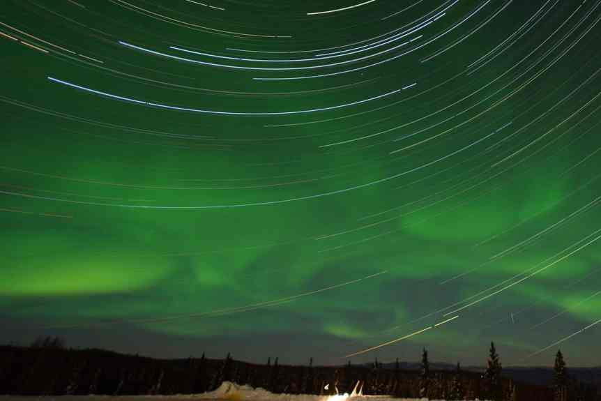 Northern Lights in Canada - Yukon - Arctic Wolves via Flickr