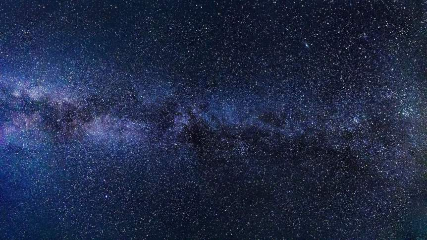 The Milky Way directly overhead