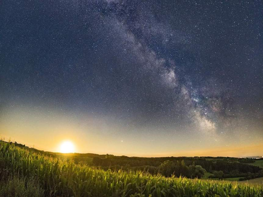 Milky Way & Moonrise