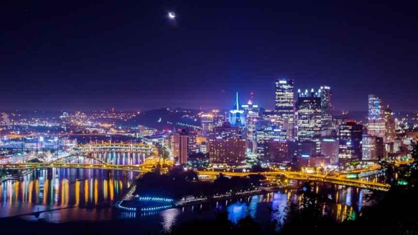 Pittsburgh at Night - Andy Barnett via Flickr