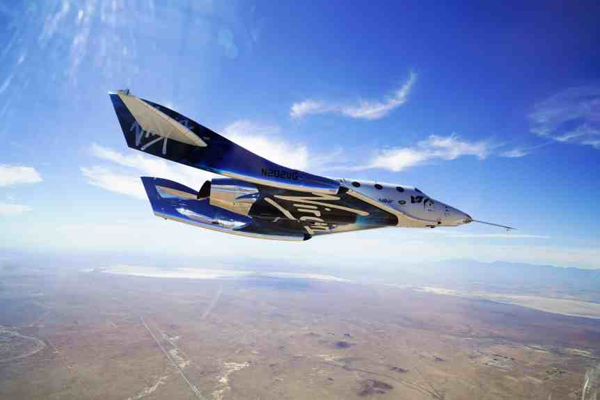 VSS Unity Glides Home after Second Supersonic Flight