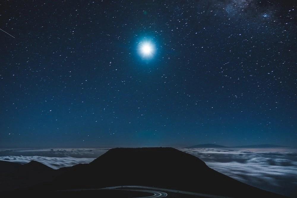 Haleakala Stargazing - Moon over the Summit