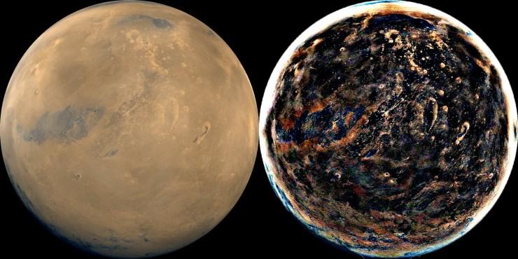 ERV of Mars Globe Comparison