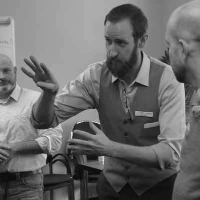 Adam Utley facilitates improv workshop