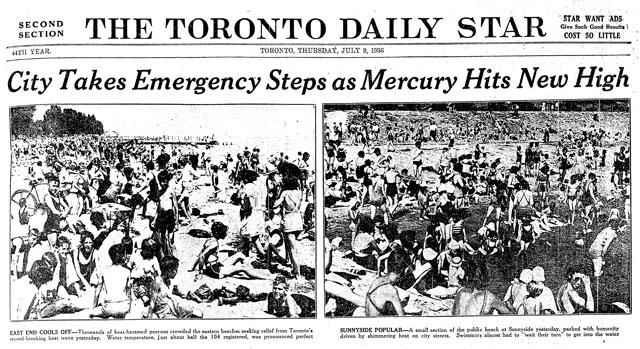 40 in the shade: Toronto's worst heatwave - Spacing Toronto