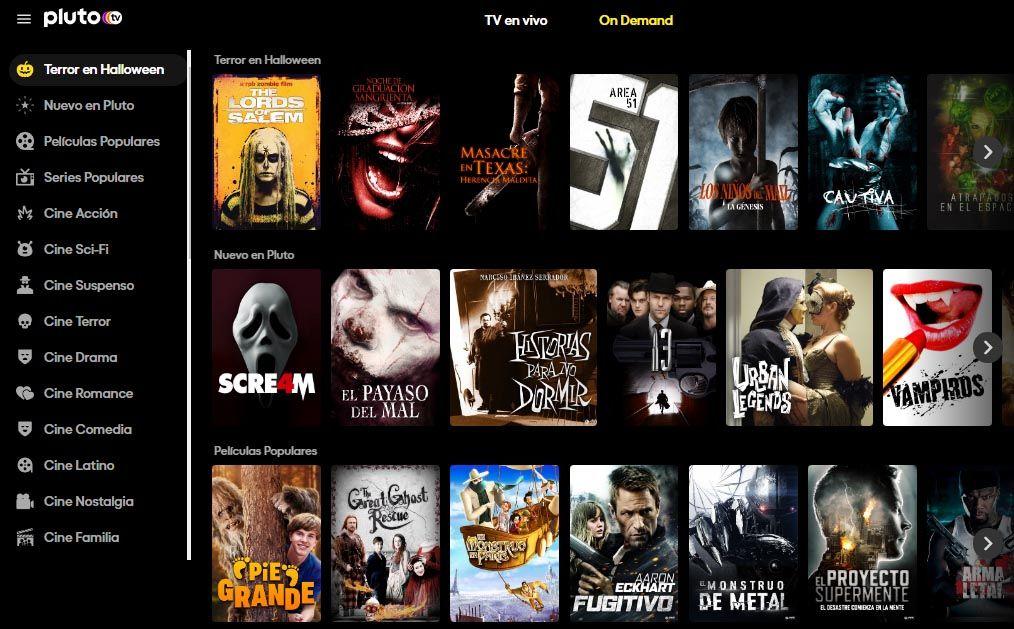Pluto TV - Spacio Virtual - Ver Televisión y Películas (GRATIS)