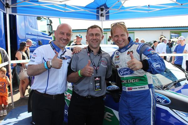 Gerard Quinn ( Ford )   Barry Lindsay ( SMC!)   Petter Solberg (WRC Driver)