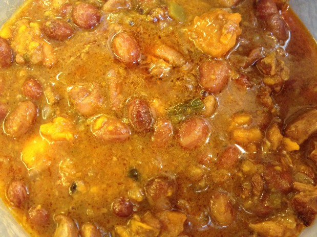 January in the kitchen – Chicken Chili with Beans and Sweet Potatoes