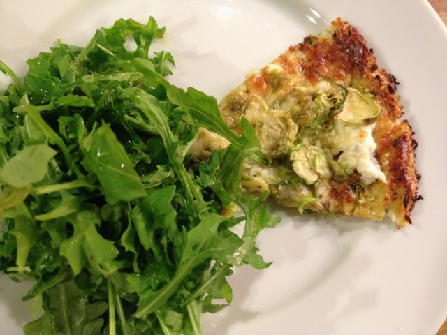 Cauliflower Crust with Brussels Sprouts