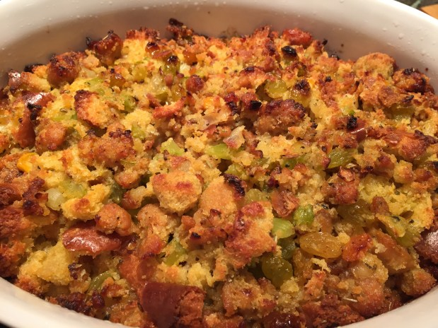 December – Traditional Sausage and Raisin Stuffing