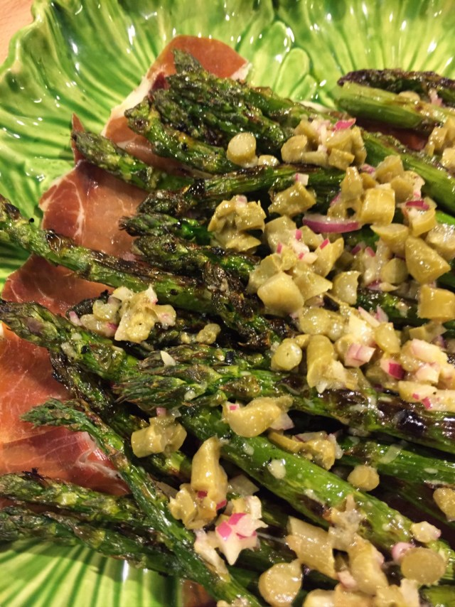 Grilled Asparagus with Pickled Asparagus