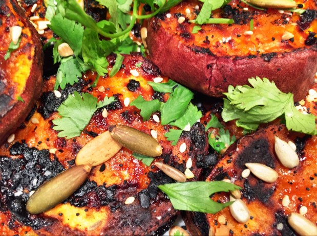 July in the Kitchen – Grilled Sweet Potatoes