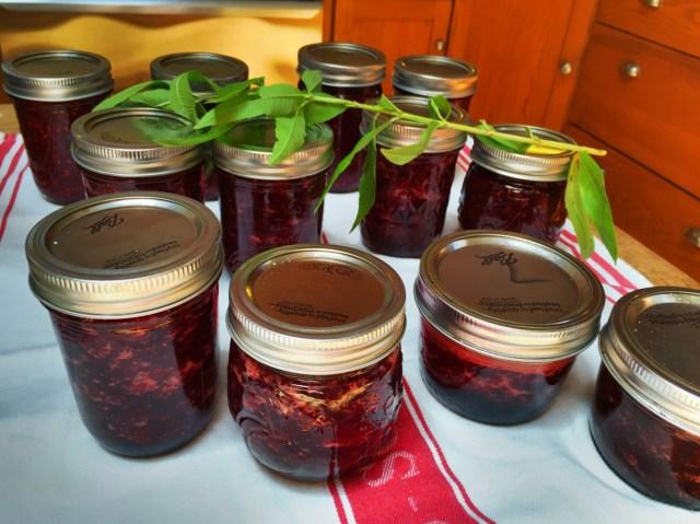 Raspberry and Strawberry Jam