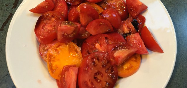 Heirloom and dry farmed tomatoes