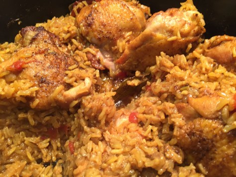 Turmeric chicken with rice