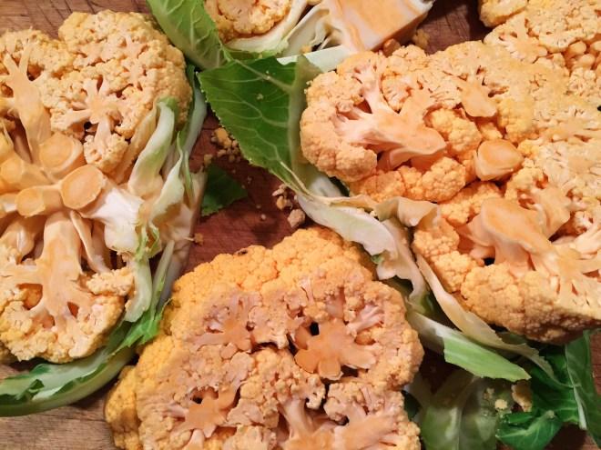 Cauliflower Steaks (orange cauliflower)