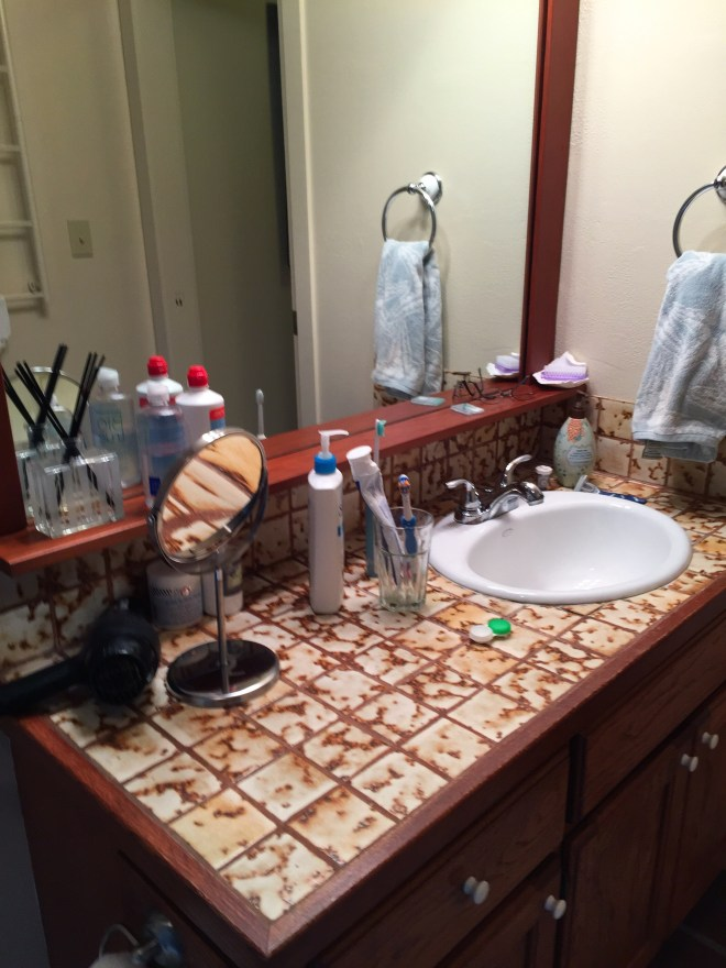 "Fort Bragg ""old"" Bathroom Vanity and Sink"