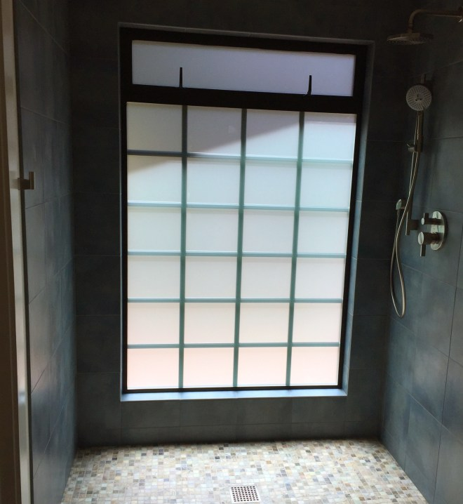 New Shower Window From the Inside