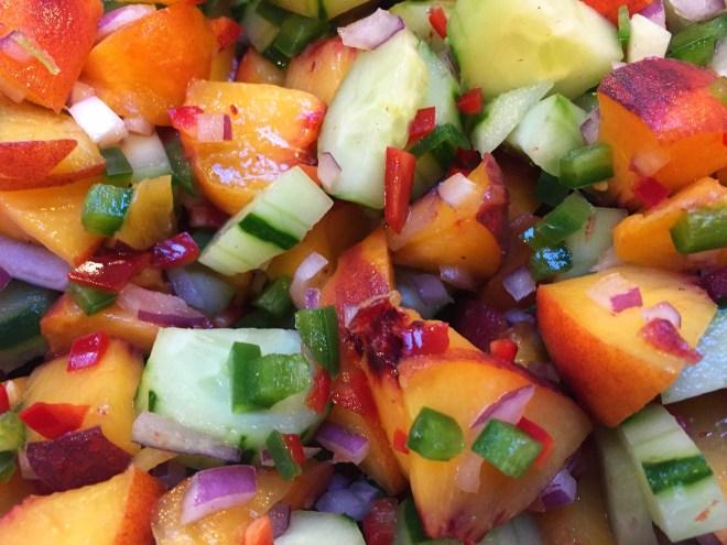 Peach and Cucumber Salsa