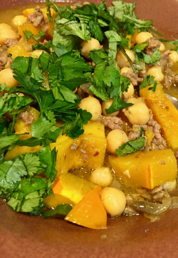 January – Lamb Soup/Stew with Garbanzos and Winter Squash