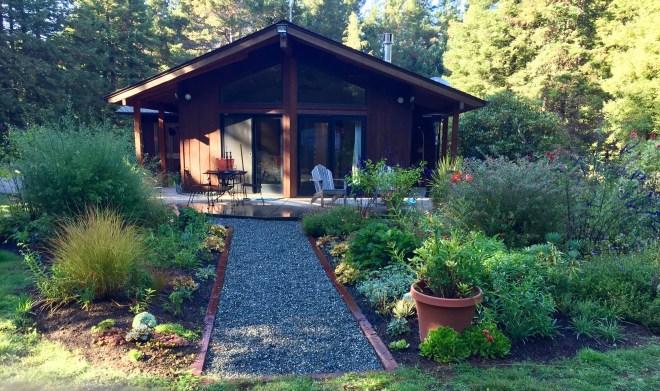Western cottage garden - Back bed Fort Bragg, CA