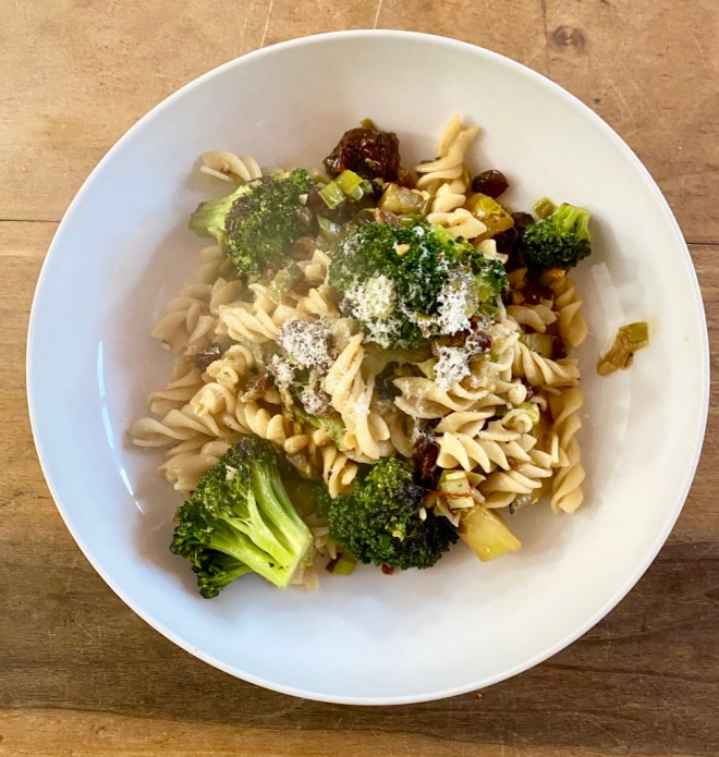 Fusilli with Broccoli, Sicilian Style