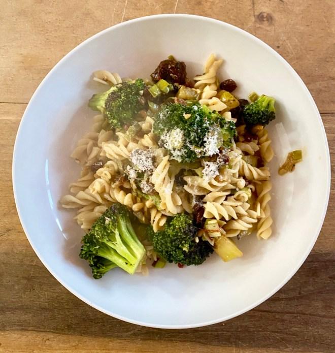 Fusilli with Broccoli, Sicilian Style