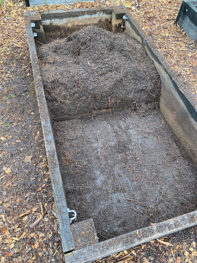 Raised Bed - roots removed
