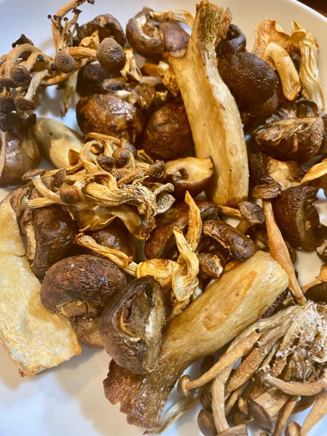 Air Fryer Mixed Mushrooms