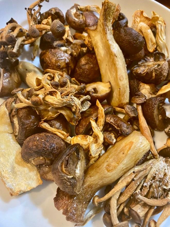 Air Fryer Mixed Mushrooms