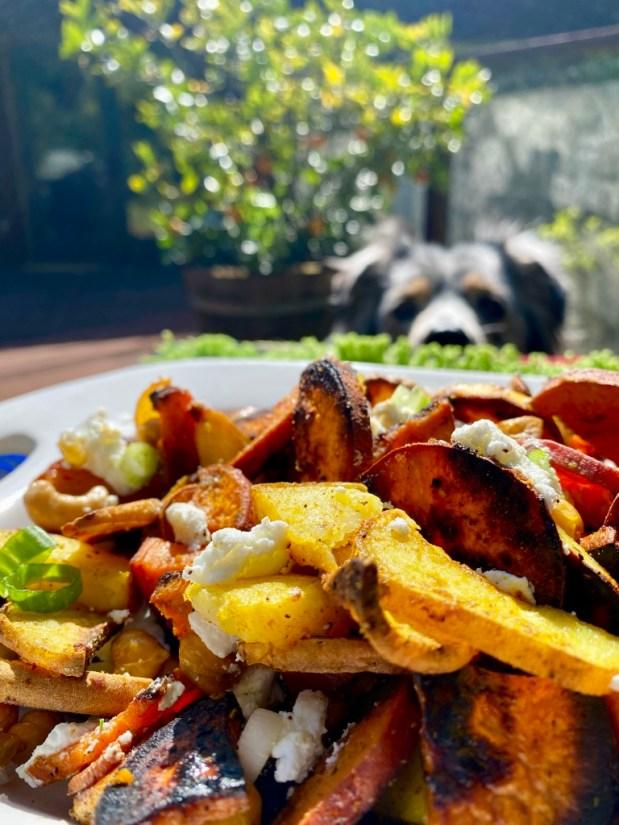 April – Curried Sweet Potato Salad