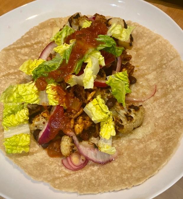 April – Cauliflower and Black Bean Tacos